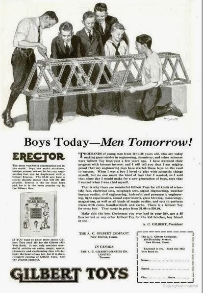 Anuncio de Erector de 1922