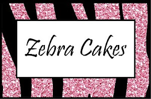 Pink Glitter Zebra Food Cards