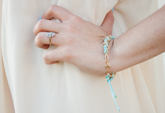 How to make a DIY threaded chain bracelet by Adventures in Fashion