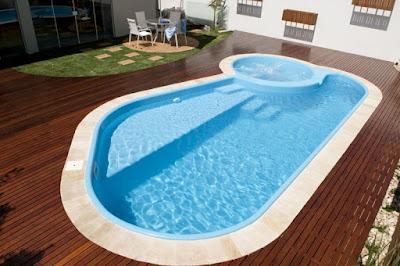 foto de piscinas de fibra com hidromassagem