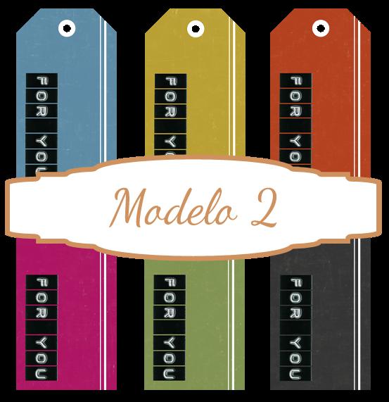 Etiquetas para imprimir modelo 2
