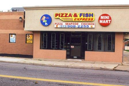 Warrendale detroit blog featured business pizza fish for Fish express kalamazoo