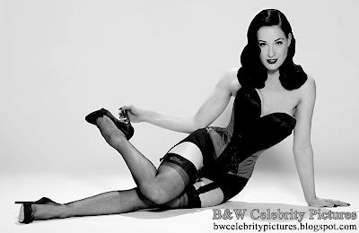 Assorted B&W pictures of Dita Von Teese picture 1