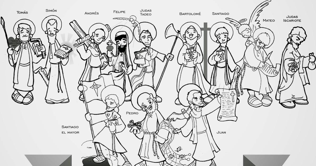 Bonito Colorear Discípulos De Jesús Inspiración - Dibujos Para ...
