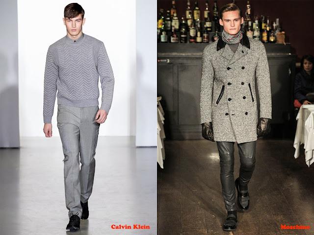 Tendencia otoño_invierno 2013-14 color gris: Calvin Klein y Moschino
