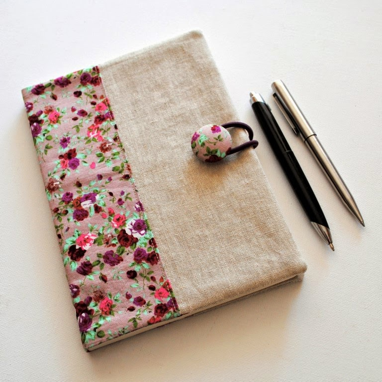 Handmade Book Cover Material ~ Sewforsoul fabric notebook cover tutorial