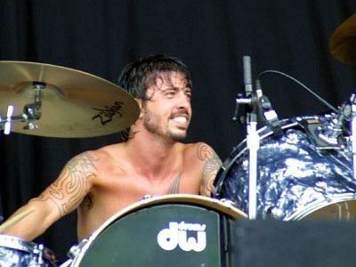 Dave Grohl performs with Foo Fighters