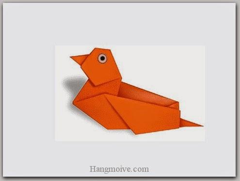 Cách gấp, xếp con vịt bằng giấy origami - Video hướng dẫn xếp hình Động vật - How to fold a Wild Duck