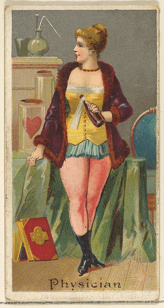 "Physician. Vintage tobacco card ""Occupations For Women"", via ellomennopee"