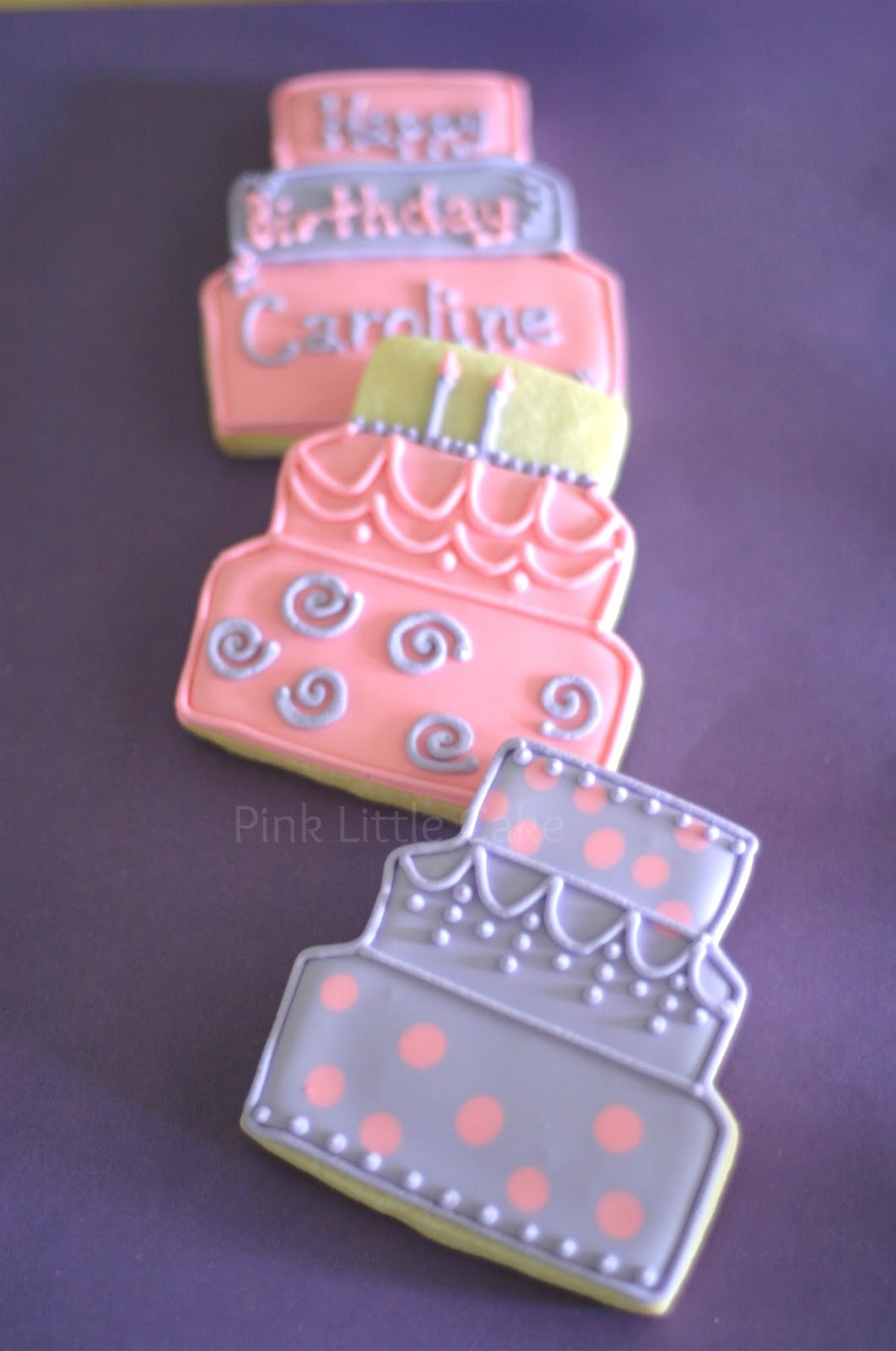 Pink Little Cake Pink And Lavander Birthday Cookies