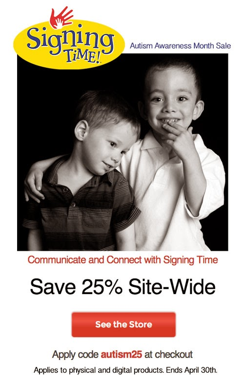 Signing Time Sale: 25% off ALL products! | Lone Star Signers, San Antonio