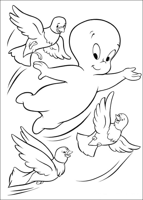 Fun coloring pages casper ghost coloring pages for Casper the friendly ghost coloring pages