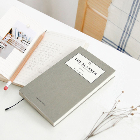 grey diary planner
