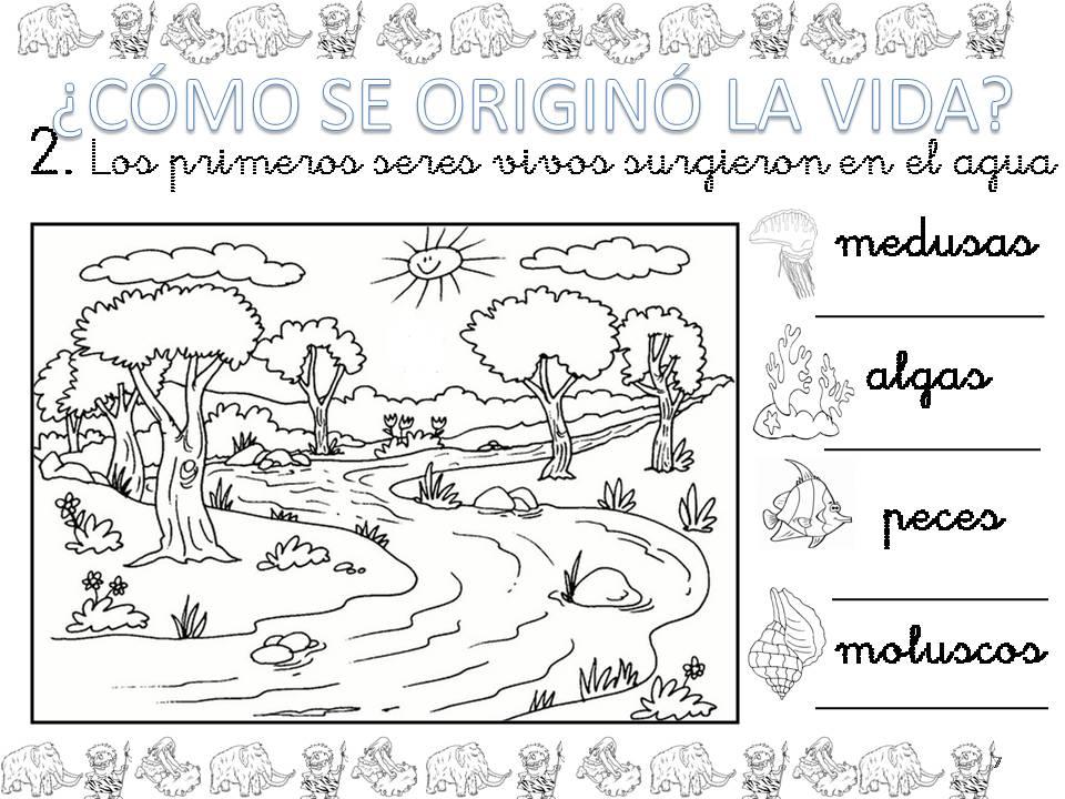 Clase De Infantil Fichas De La Prehistoria