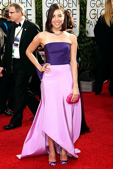 Aubrey Plaza in Golden Globes 2014