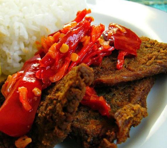 resep dan cara membuat dendeng daging sapi balado khas padang