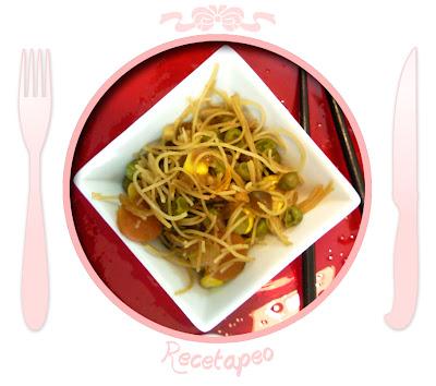 Fideos chinos de arroz
