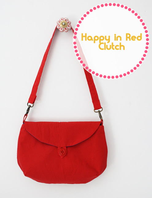 Red and blue clutch