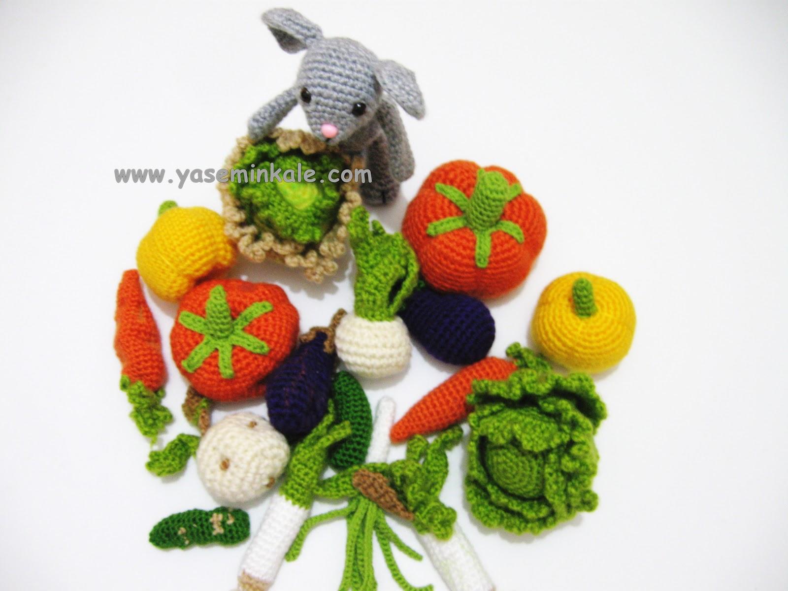 Amigurumi Vegetables : Yaseminkale �rg� sebzeler amigurumi vegetables