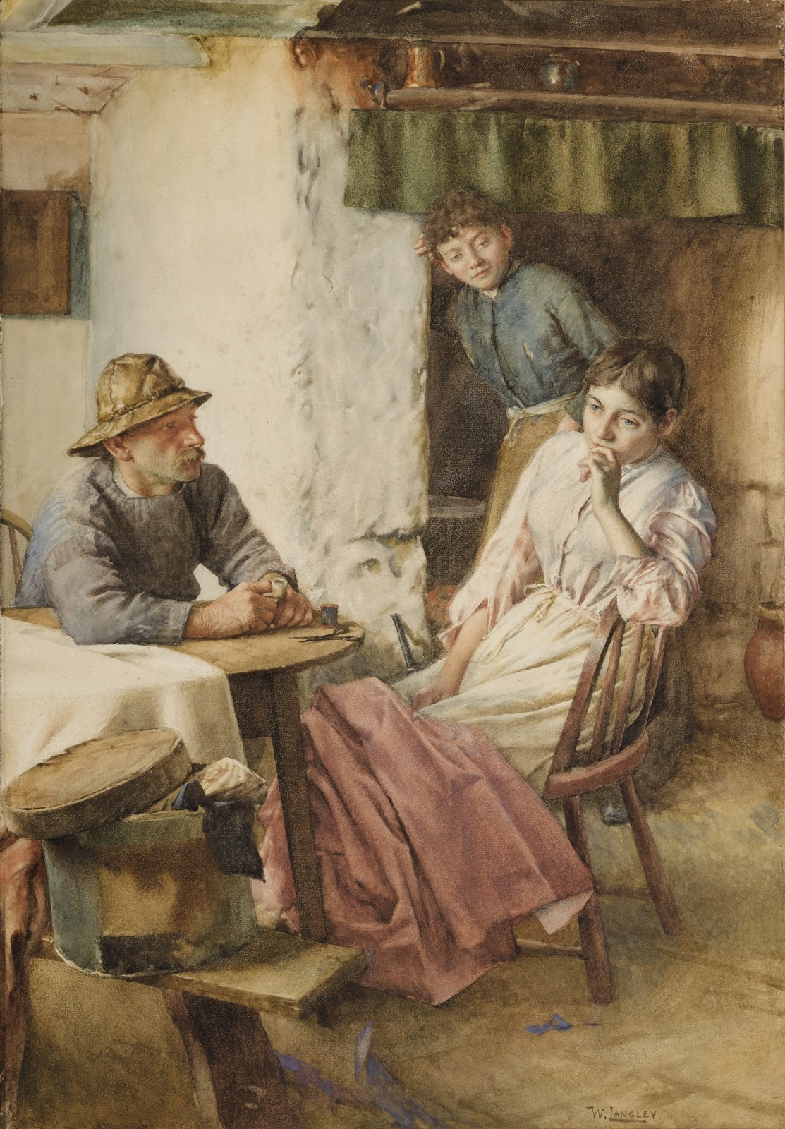 Walter Langley An Anxious Moment