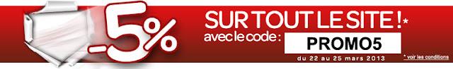 5% de remises sur tout le site Carrefour.fr