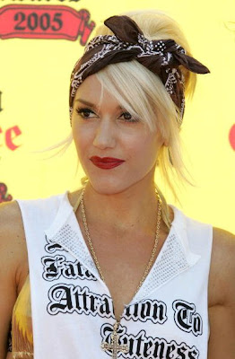 Gwen Stefani short hairstyles updos