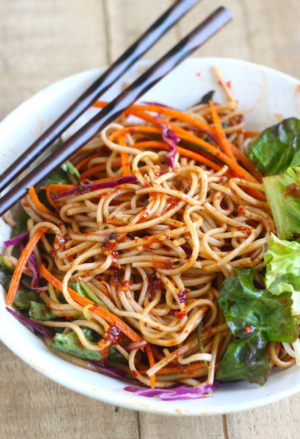 Spicy Korean Cold Noodles (Bibim Guksu) recipe by SeasonWithSpice.com