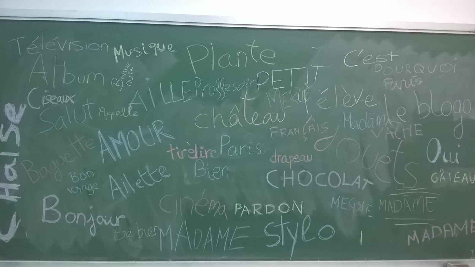 Premiers mots en Français 1º ESO BC