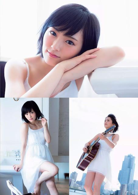 Yamamoto Sayaka 山本彩 Guitar Weekly Playboy Oct 2015 Pics 3
