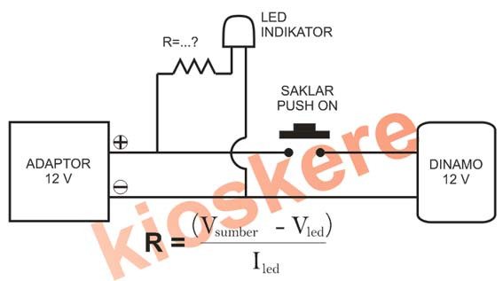 Bor mini bungkus diodoran kios kere pada gambar rangkaian diatas nilai resistorr tergantung dari led yang digunakan rata rata led biasa memerlukan arus 20 30ma asfbconference2016 Gallery