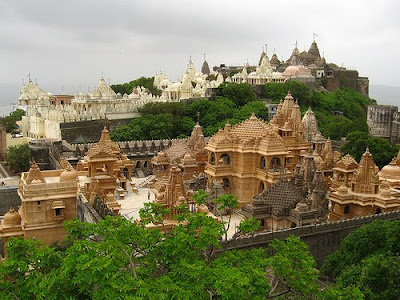 Picture of Palitana Jain Temples in Gujarat India