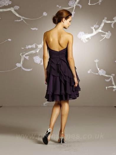 Purple Bridesmaids Dress Ruffles