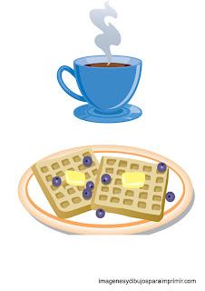 tostadas con mantequilla y cafe