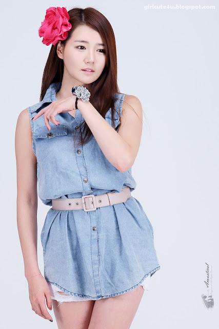 9 Han-Ga-Eun-Denim-Shirt-01-very cute asian girl-girlcute4u.blogspot.com