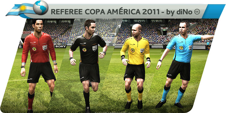 Copa America 2011 Penalty Referee Kits by diNo