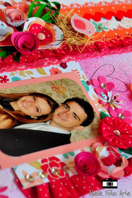 Página de scrapbook Nathy e Léo