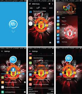 BBM Mod WhatsApp Tema MU (Manchaster United) Terbaru
