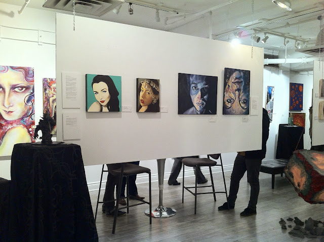 moniker gallery, hooked, nuit blanche, square art circle, malinda prudhomme, portrait artist, toronto art, toronto artist, portrait painting, winter beauty, a modern classic, malinda prudhomme