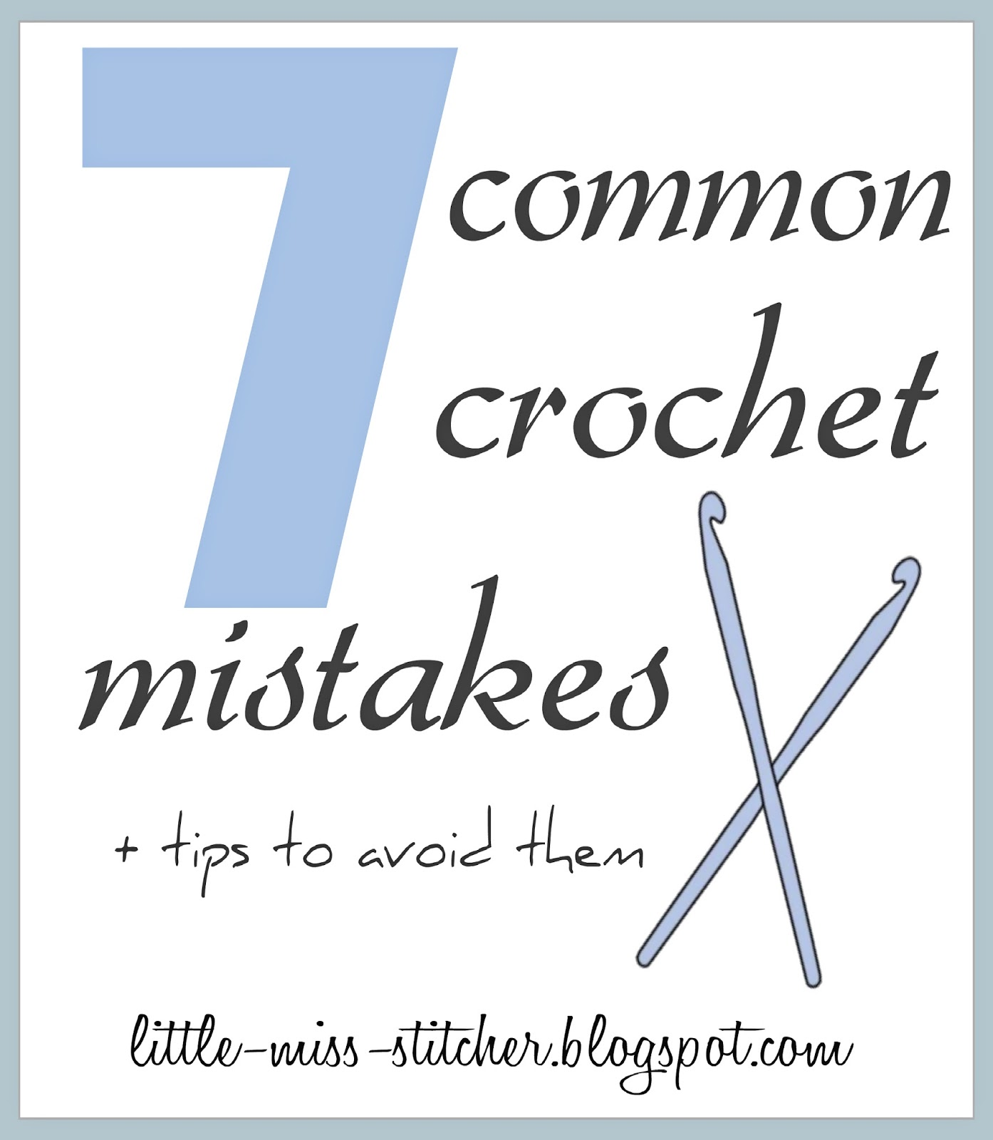 Crocheting Mistakes : with crochet. Ive compiled a list of 7 common crochet mistakes ...
