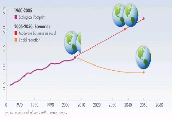 Rising human ecological footprint