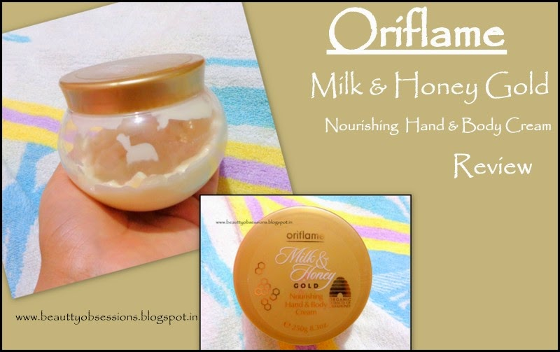 Review - Oriflame Milk & Honey Gold Nourishing Hand And Body Cream