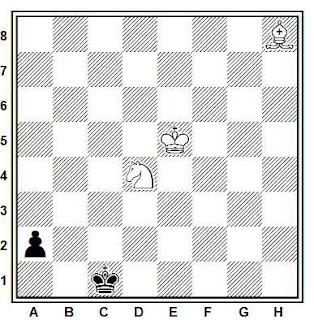 Estudio artístico de ajedrez compuesto por Joaquim Travesset (1978)