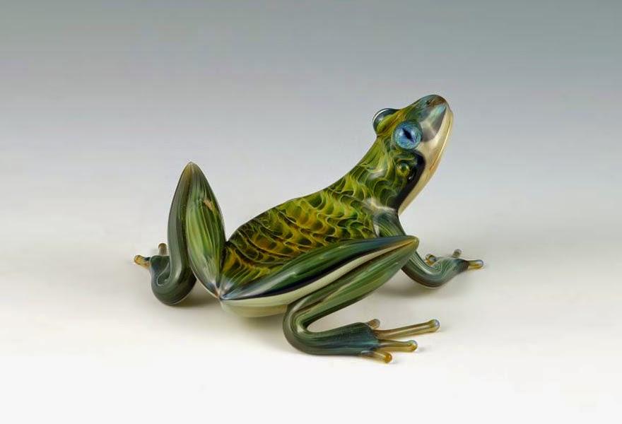 hand blown glass creatures sculptures scott bisson-12