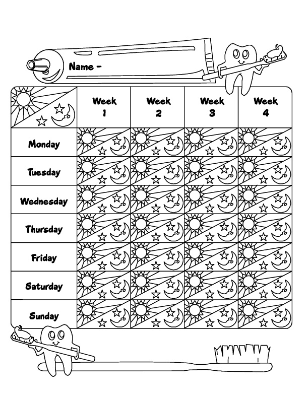 photograph regarding Printable Tooth Brushing Charts identified as Teeth Brushing Chart Template Search term Information and facts - Very similar Enamel