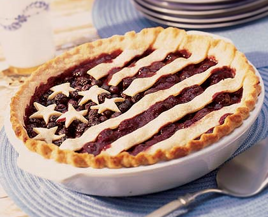 stars and stripes pie