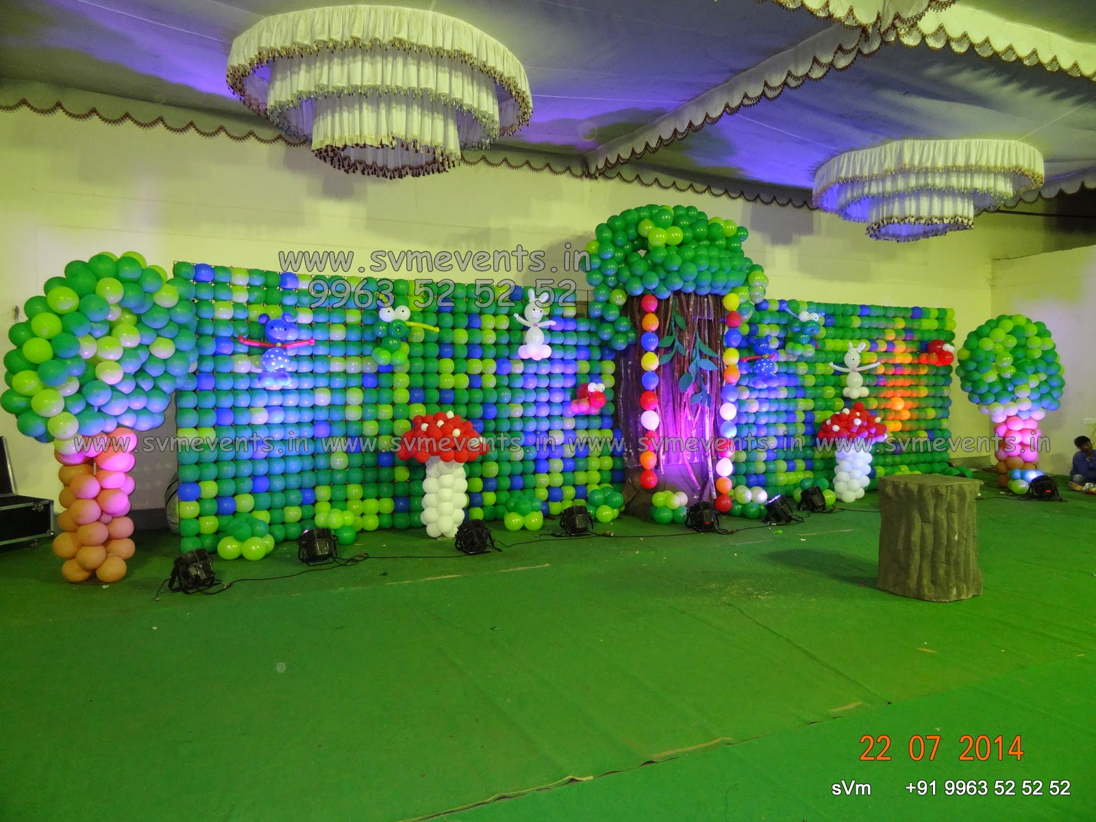 Jungle Theme Decorations Svm Events Jungle Theme Balloon Wall And Balloon Decorations