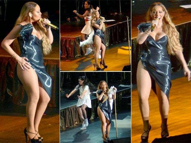 Gaun terbelah Mariah Carey bikin panas