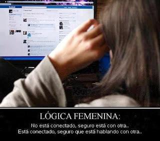 Imagen Lógica Femenina No Esta Conectado Seguro Esta Con Otra (Imagenes para Facebook)