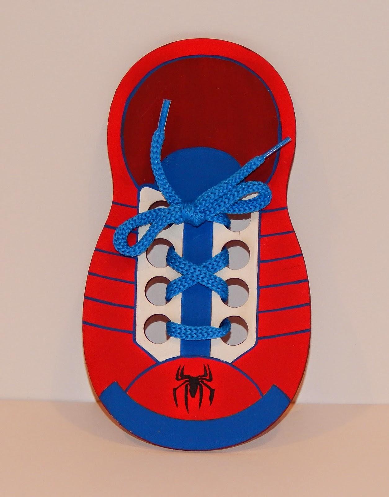 Minimandy. Spiderman. Zapatilla Didáctica. Souvenir.
