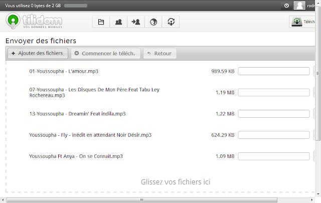 ajouter des fichiers mp3 sur tilidom